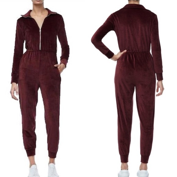 fbe77550a045 Good American Pants - FIRM PRICE Good American Velour Jumpsuit